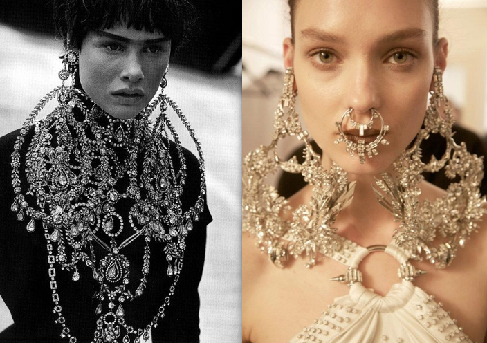 Dior Couture Fall 1997 (left) & Givenchy Couture Spring 2012 (right)