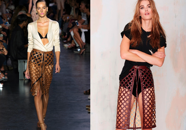 Altuzarra (left) and Nasty Gal's copy (right)