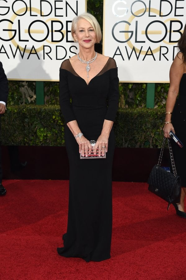 Helen Mirren in Badgley Mischka
