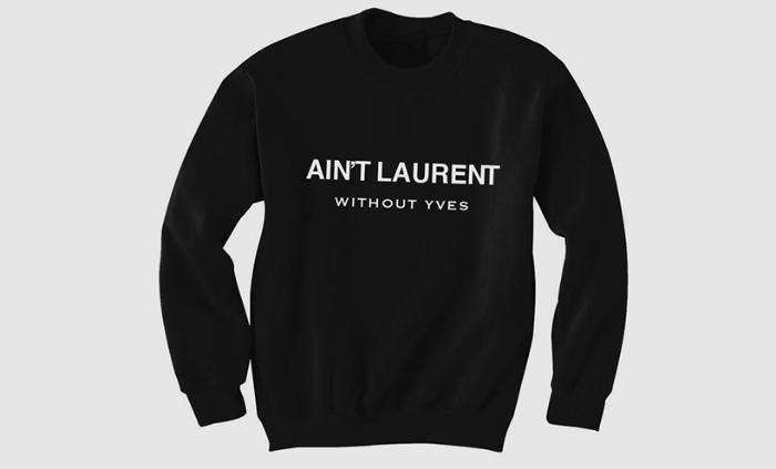 yves saint laurent settles lawsuit over parody tee the. Black Bedroom Furniture Sets. Home Design Ideas
