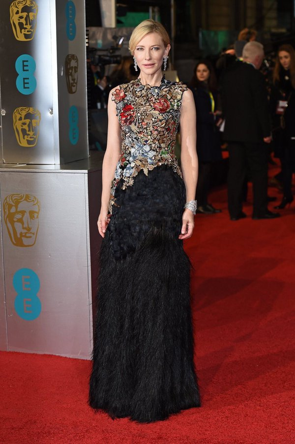 Cate Blanchett in custom Alexander McQueen