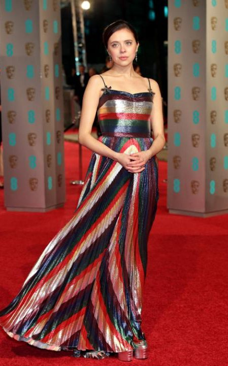 Bel Powley in Gucci