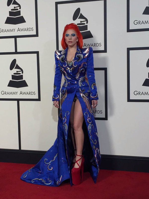 Lady Gaga in custom Marc Jacobs
