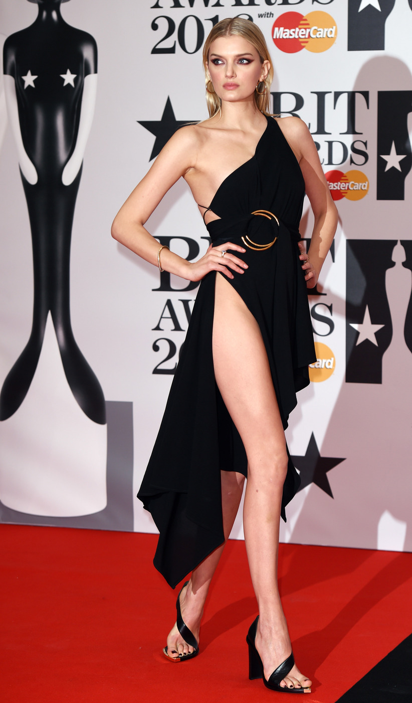 Lily Donaldson in Anthony Vaccarello