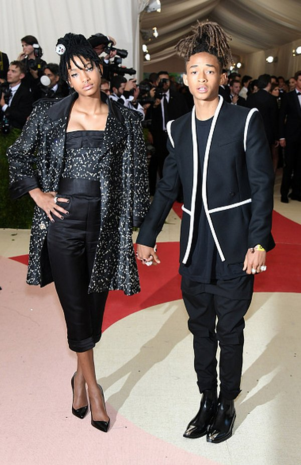 Willow Smith in Chanel couture and Jaden Smith in Louis Vuitton