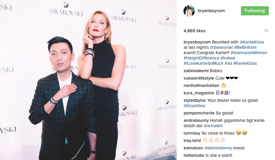 A disclosed post courtesy of Bryan Boy (image: @Bryanboy instagram)