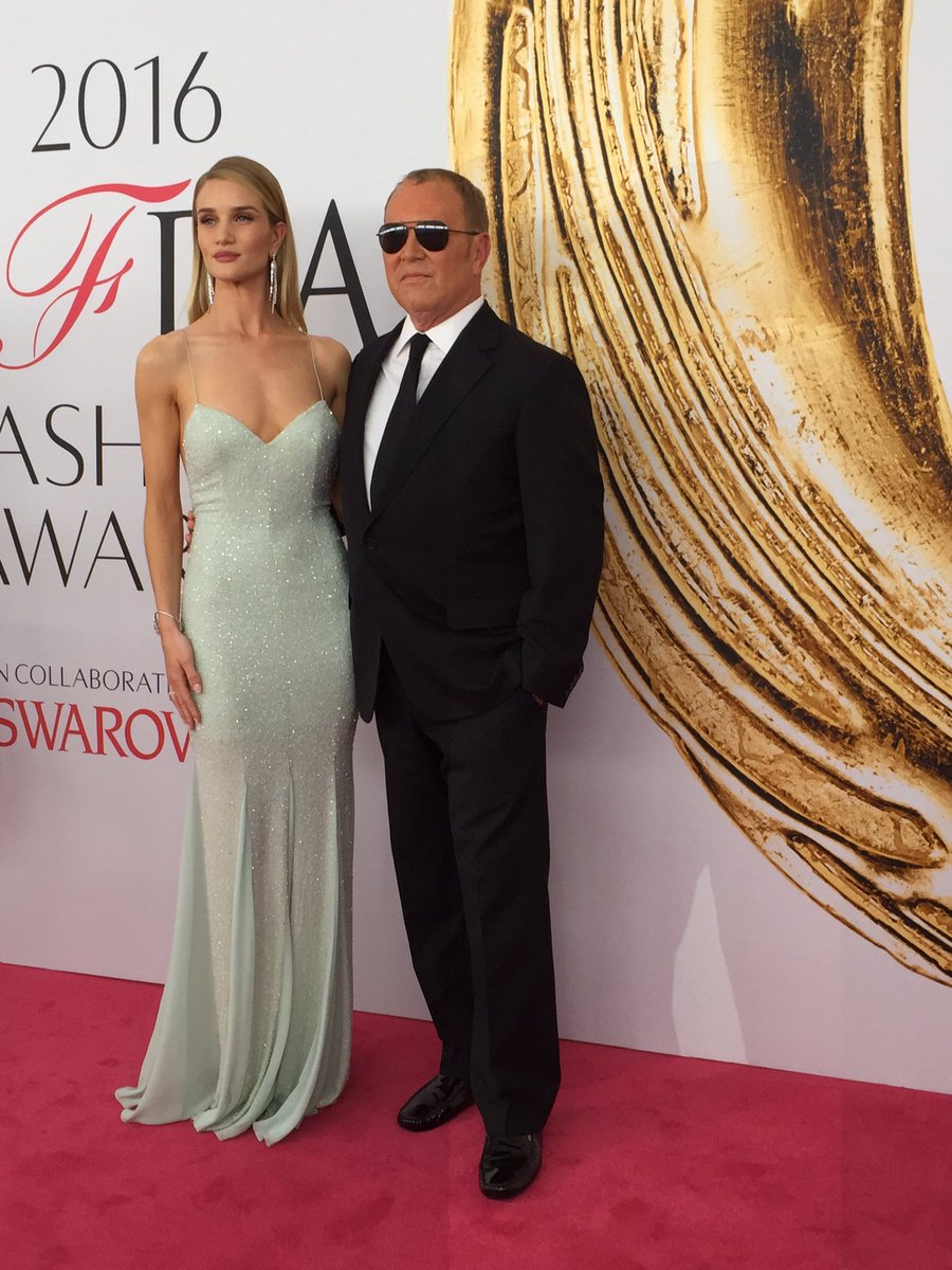 Rosie Huntington-Whiteley and Michael Kors