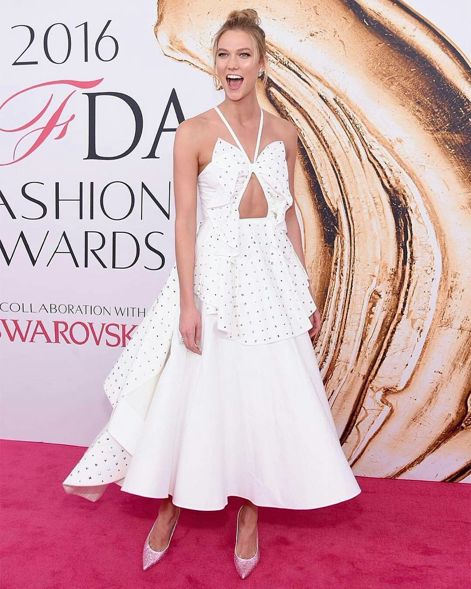 Karlie Kloss in Swarovski Images courtesy of CFDA/BFA