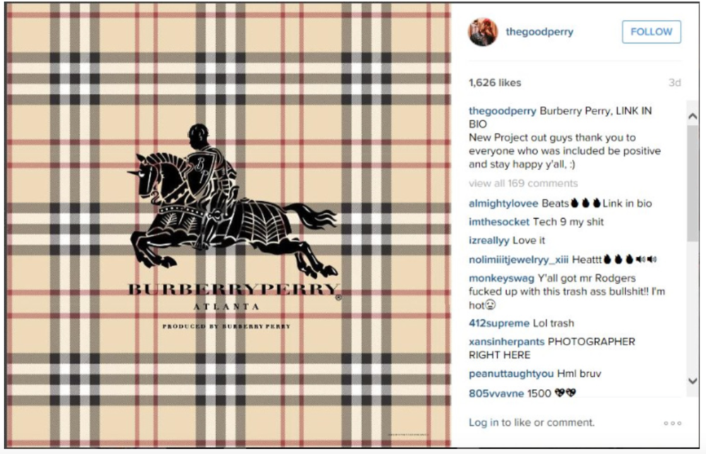 image courtesy of Burberry's complaint