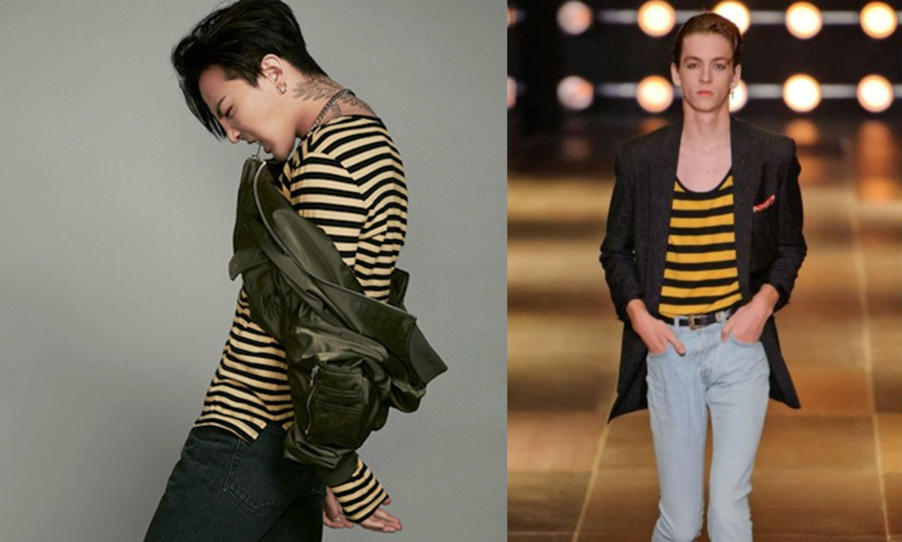 G-Dragon x 8 Seconds (left) & Saint Laurent (right)
