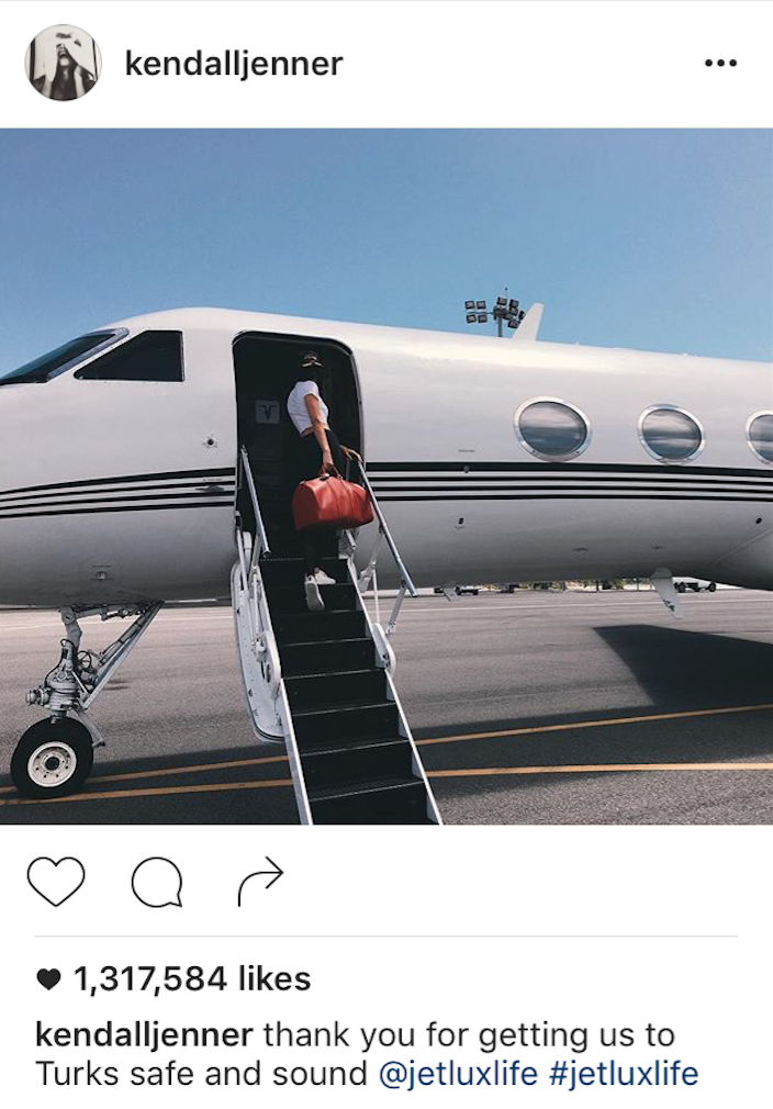 image: @KendallJenner Instagram