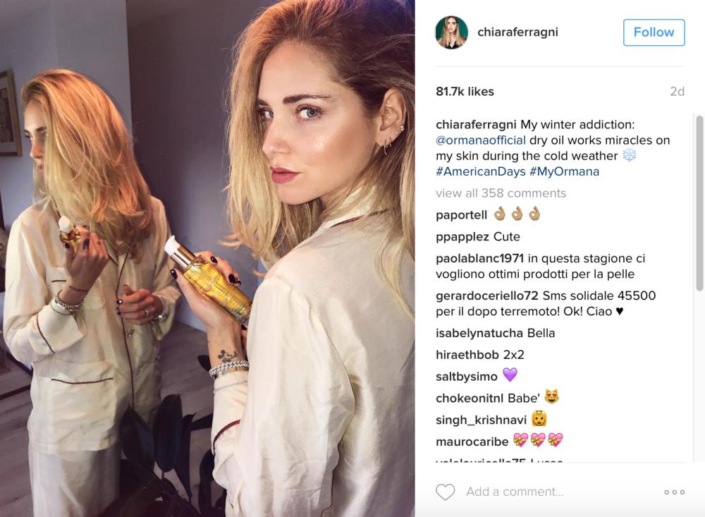 image: @chiaraferragni instagram