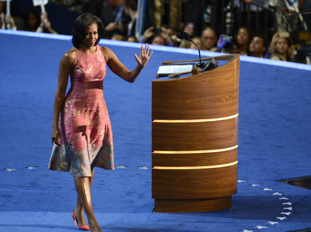 Michelle Obama in Tracey Reese