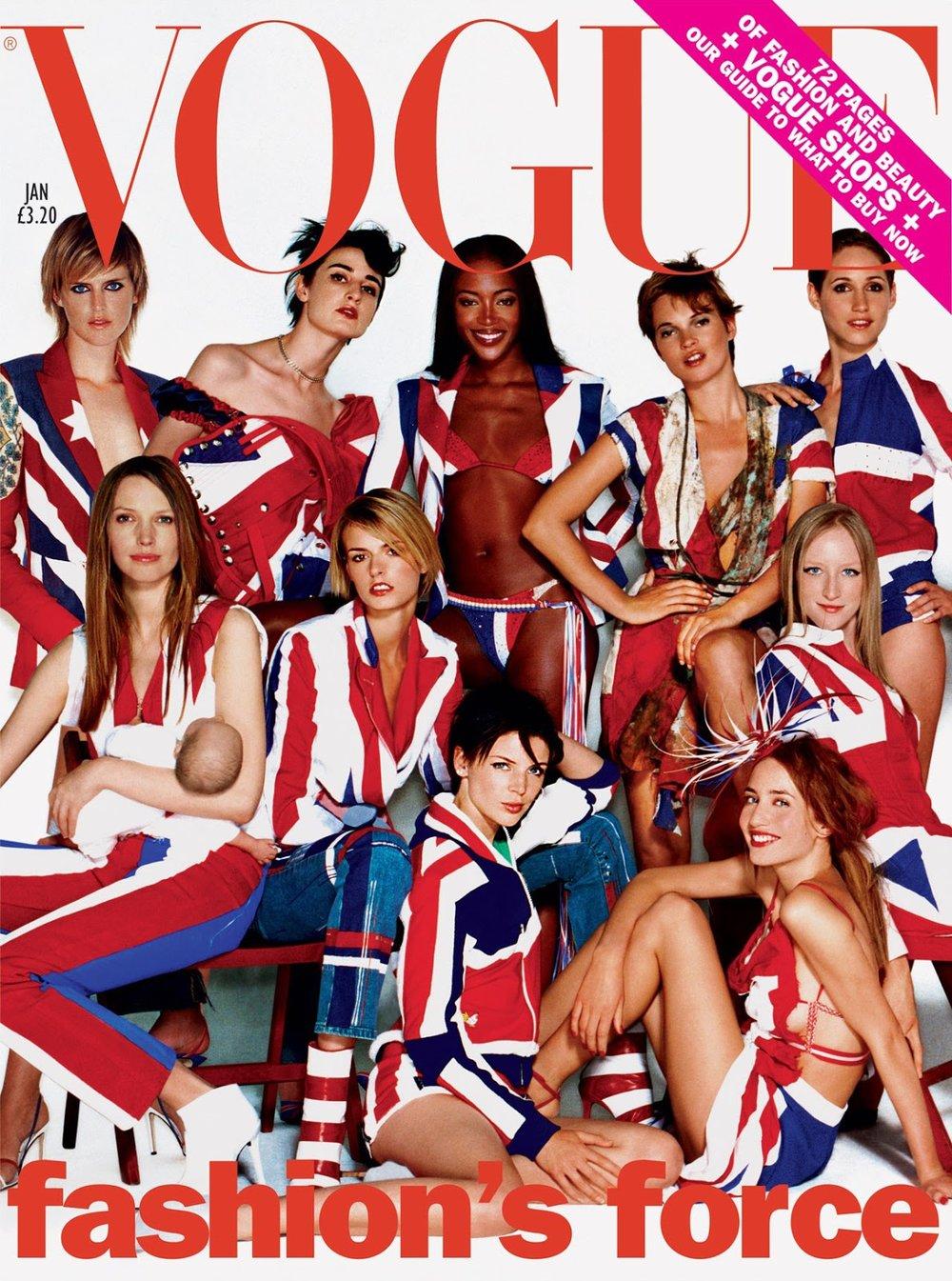 British Vogue January 2002