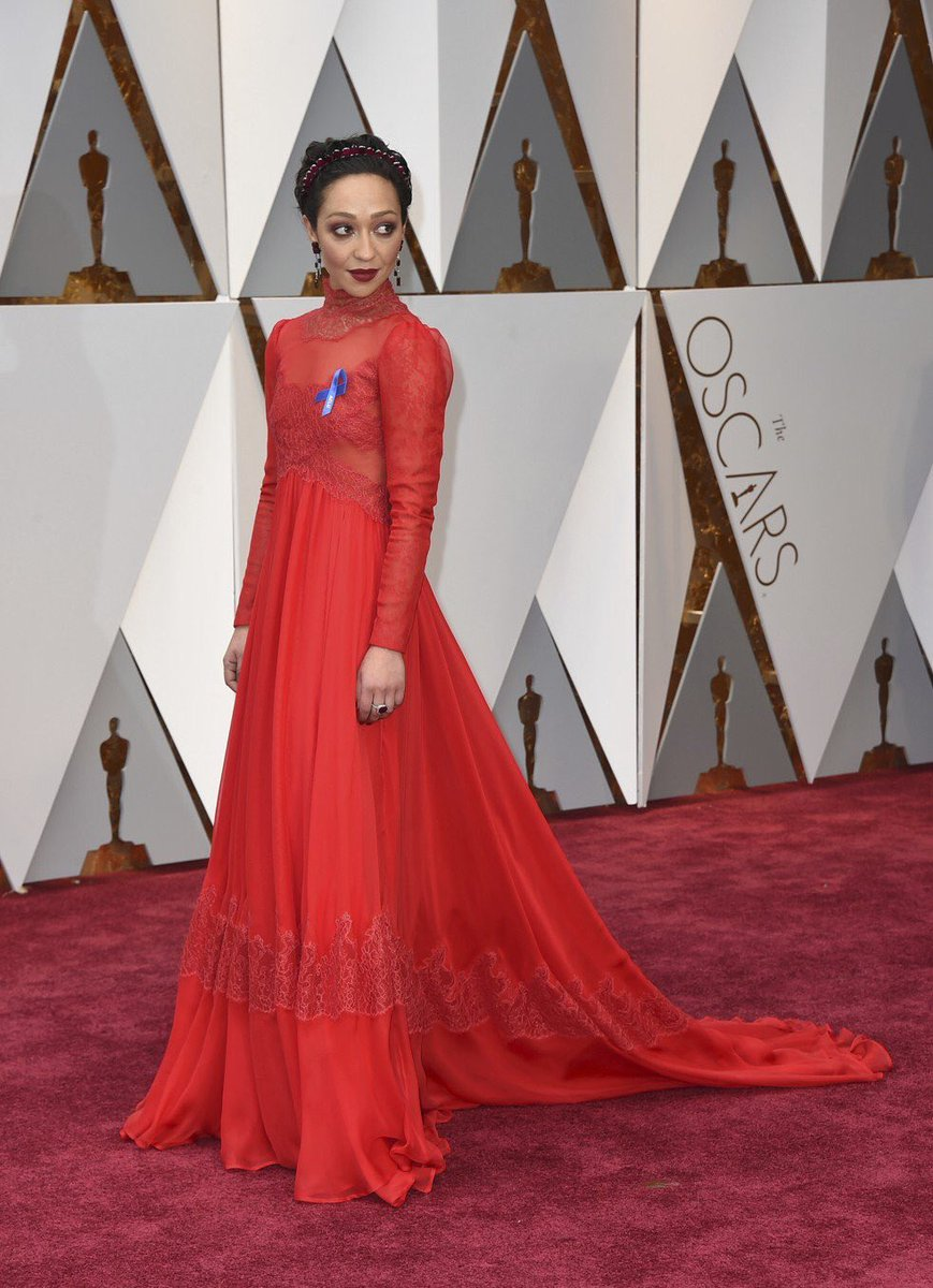 Ruth Negga in custom Valentino