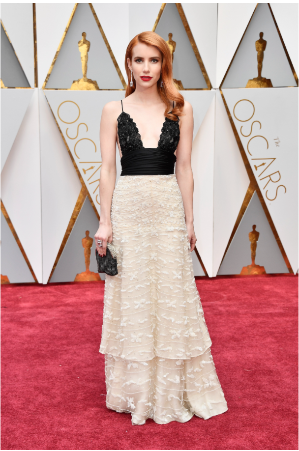 Emma Roberts in Armani Prive