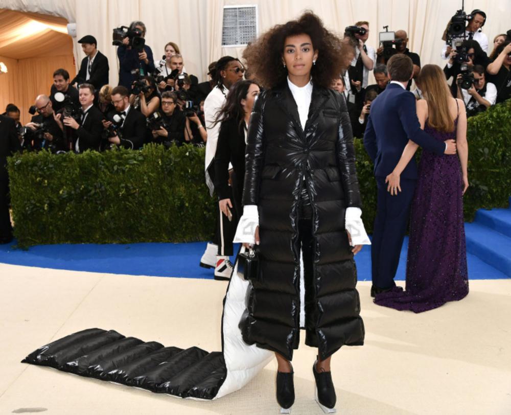 Solange in an Ivy Park coat