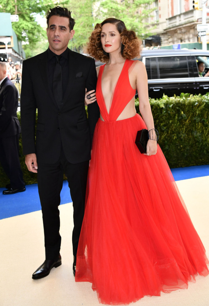 Bobby Cannavale in Ralph Lauren and Rose Byrne in Ralph Lauren