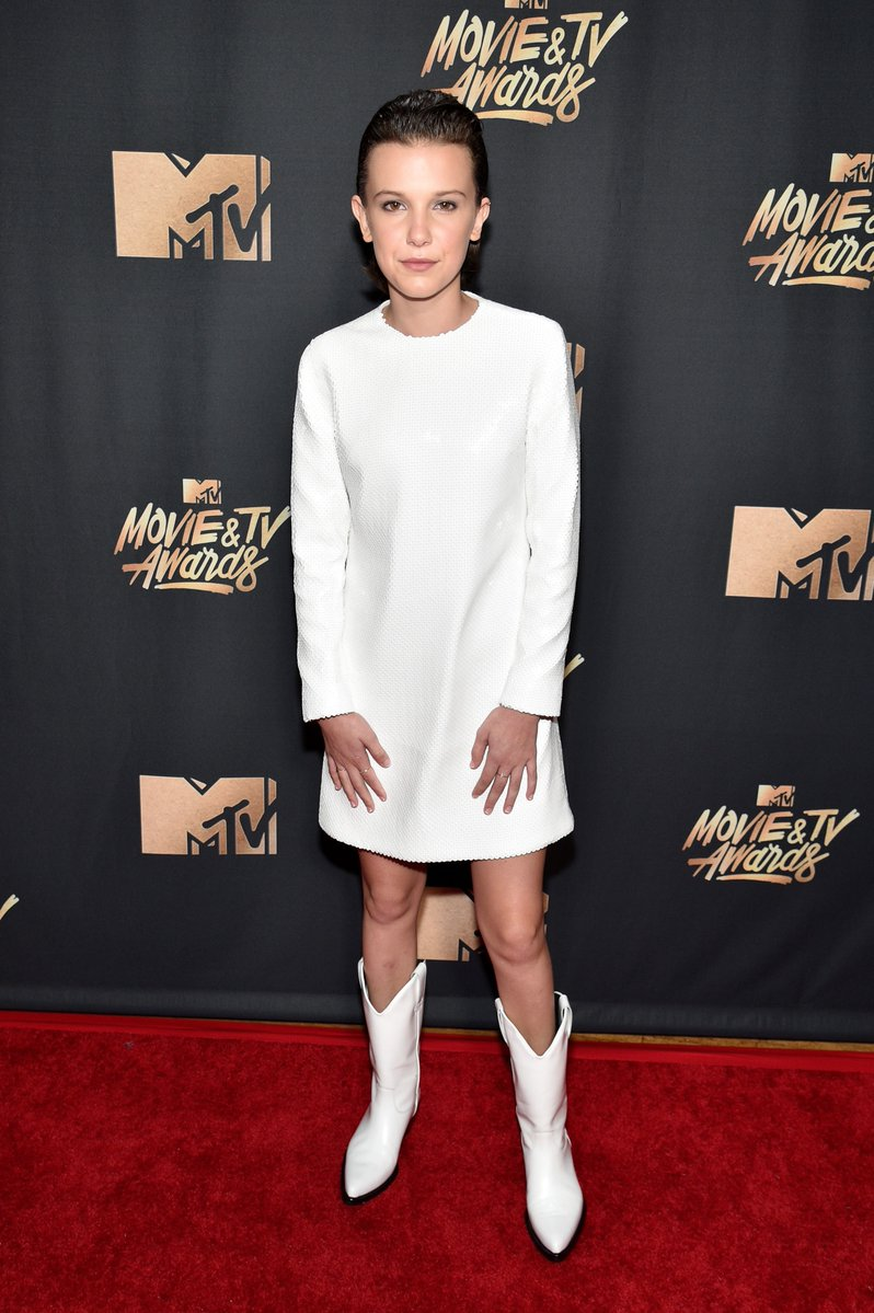 Millie Bobby Brown in Calvin Klein