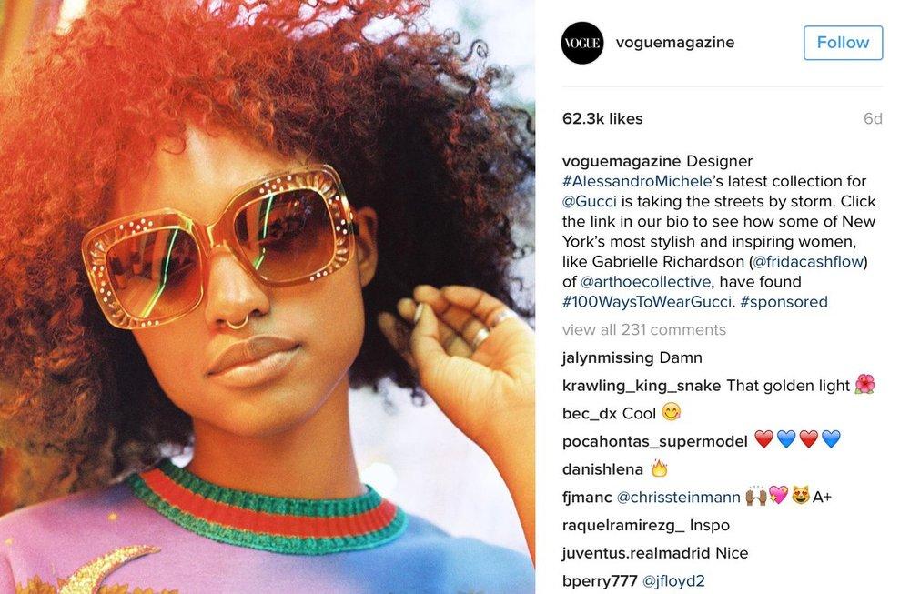 image: @Voguemagazine Instagram