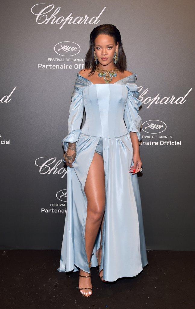 Rihanna in custom Adam Selman