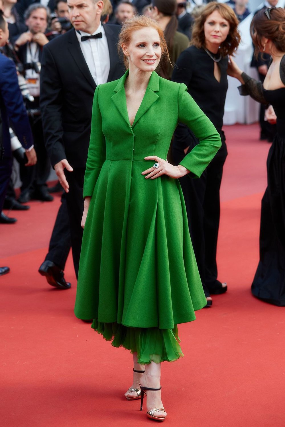 Jessica Chastain in Dior couture