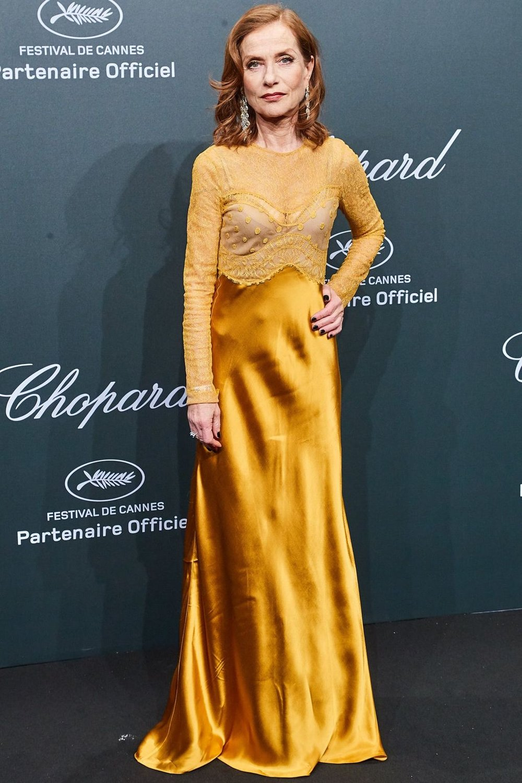 Isabelle Huppert in custom Nina Ricci