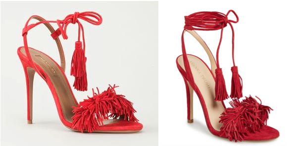 Aquazzura's shoe (left) & Ivanka Trump's (right)