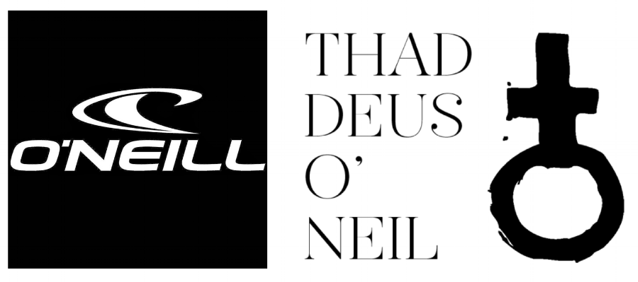 One of O'Neill's marks (left) & Thaddeus O'Neil's mark (right)