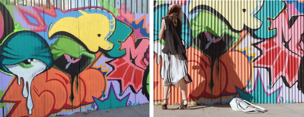Reef's mural (left) & a still from Camuto's S/S17 campaign (right)