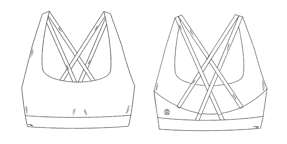 One of Lululemon's patent drawings