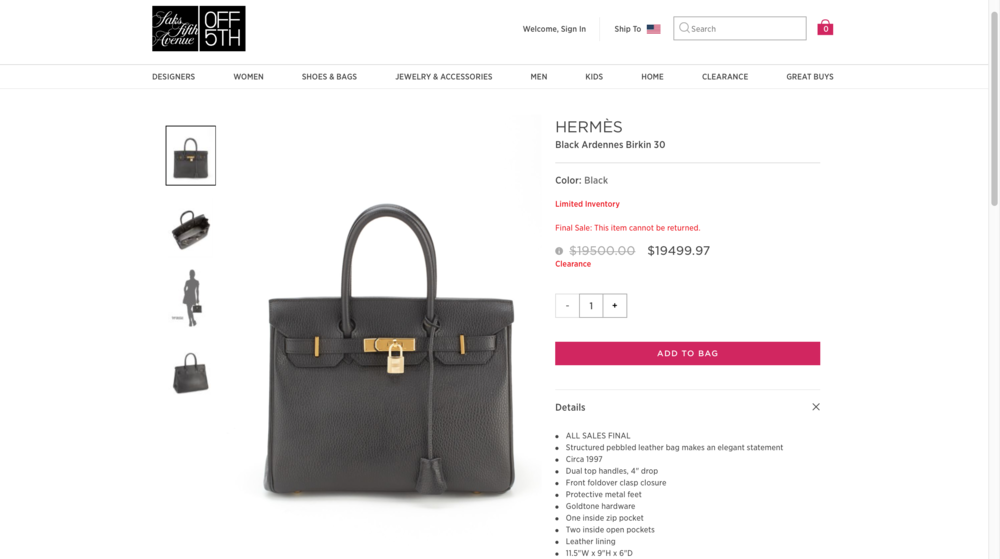 "3d18024a2b4e The bags – which were made between 1991 and 2014 – can only be found by  searching for ""Hermes"" and are not listed in the brand s category when  shopping by ..."