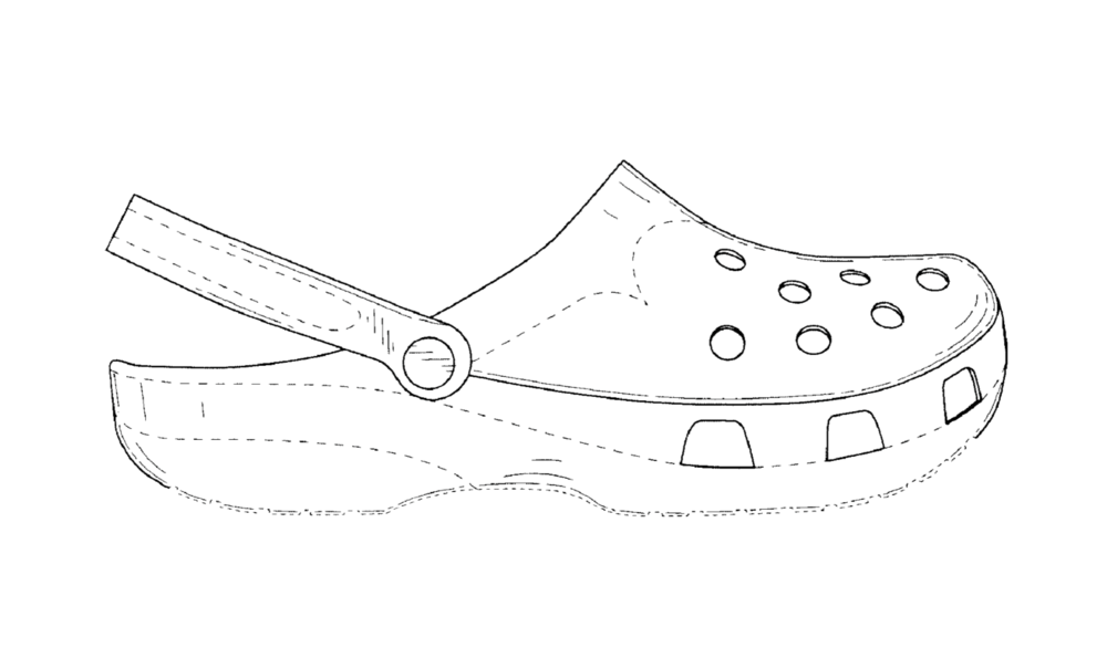 a drawing from Crocs' D517789 patent