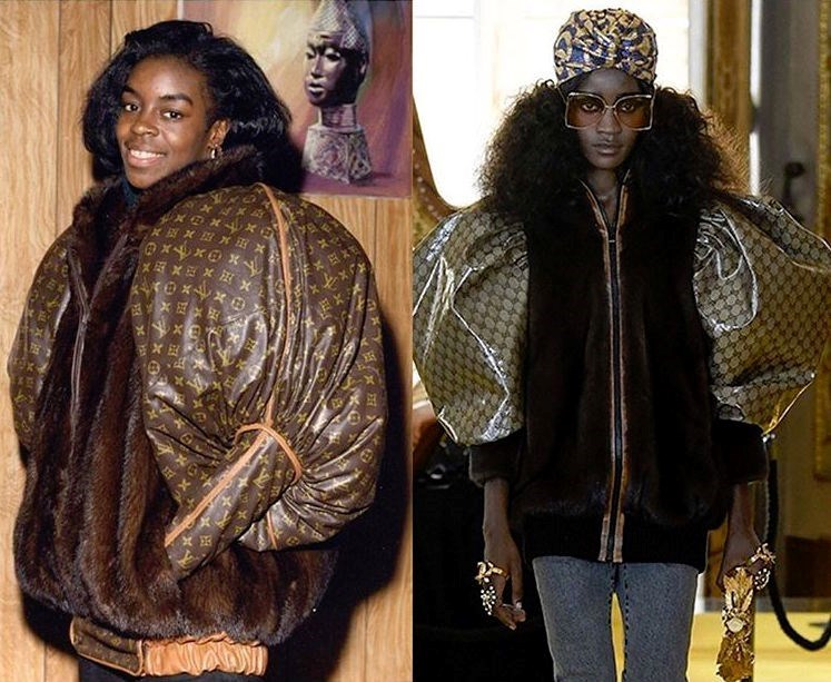 Dapper Dan's jacket (left) & Gucci's version (right)