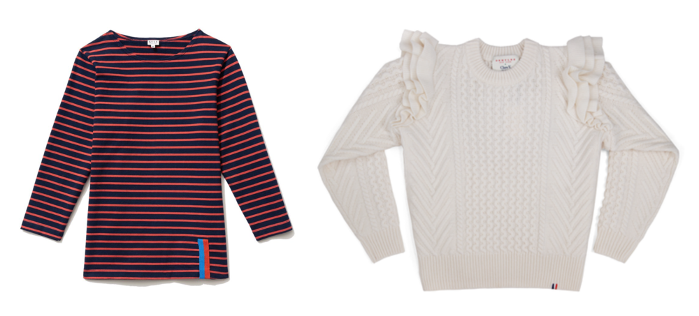 Kule shirt (left) & Claire Vivier sweater (right)