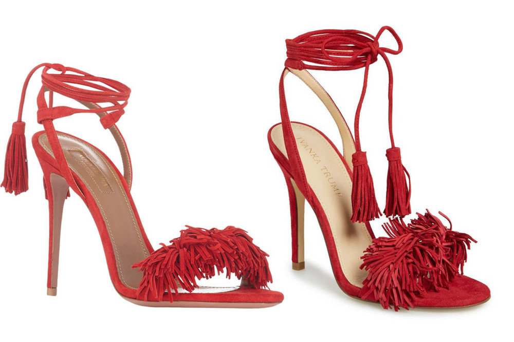 Aquazzura's sandal (left) & Ivanka Trump's version (right)