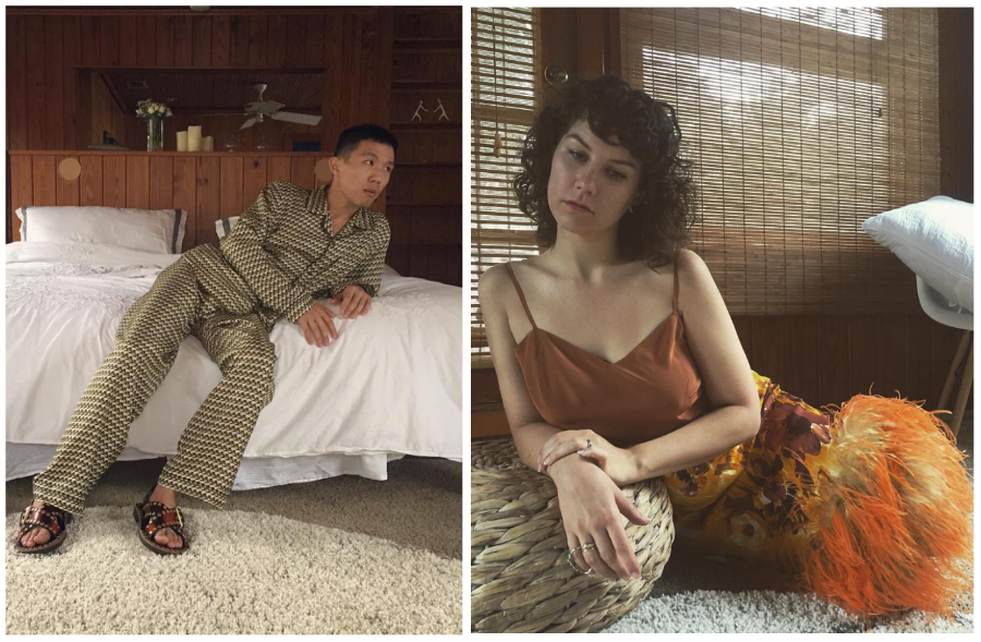 Liu & Schuyler both in Prada Fall/Winter 2017 (images: @littleboobs, @ttonytt)