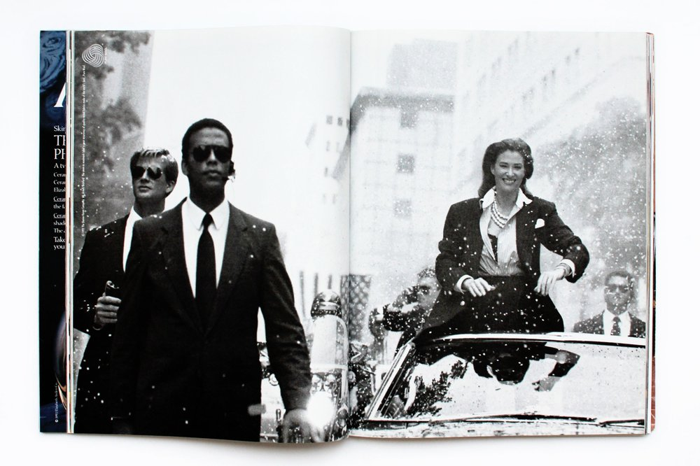 image: Donna Karan's 1992 Ad, entitled, 'In Woman We Trust'