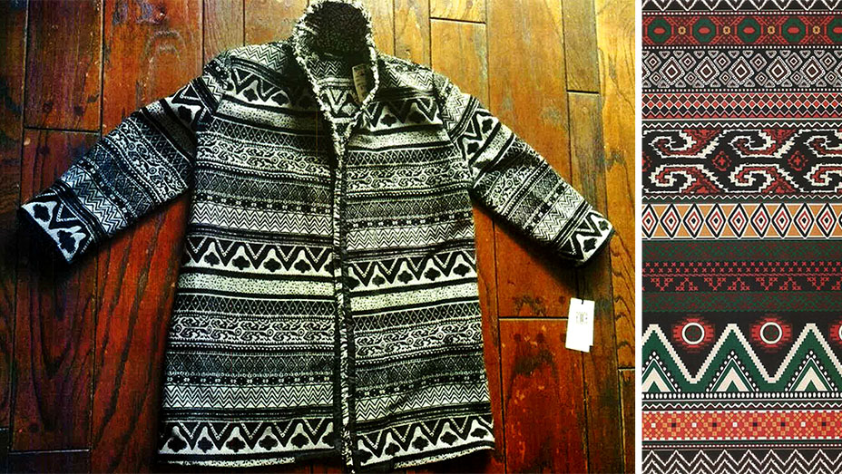 Ivanka Trump coat (left) & Unicolors' copyright-protected print (right)