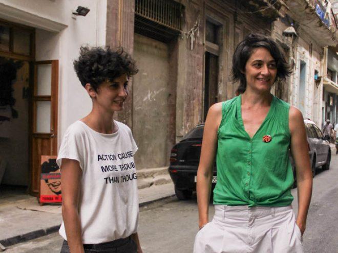 Idania del Rio (left)and Leire Fernandez (right)