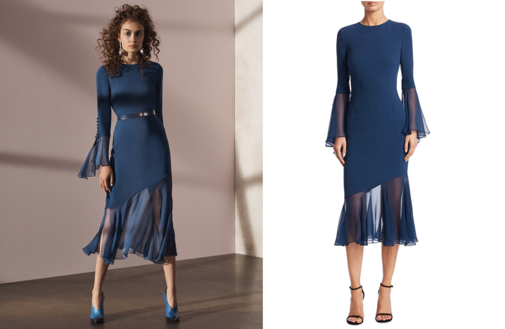 Prabal Gurung's Pre-Fall 2017 dress (left) & Teri Jon by Rickie Freeman (right)