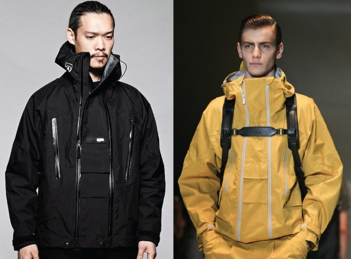 ACRONYM's GT-J5A jacket (left) & Gucci's S/S14 jacket (right)