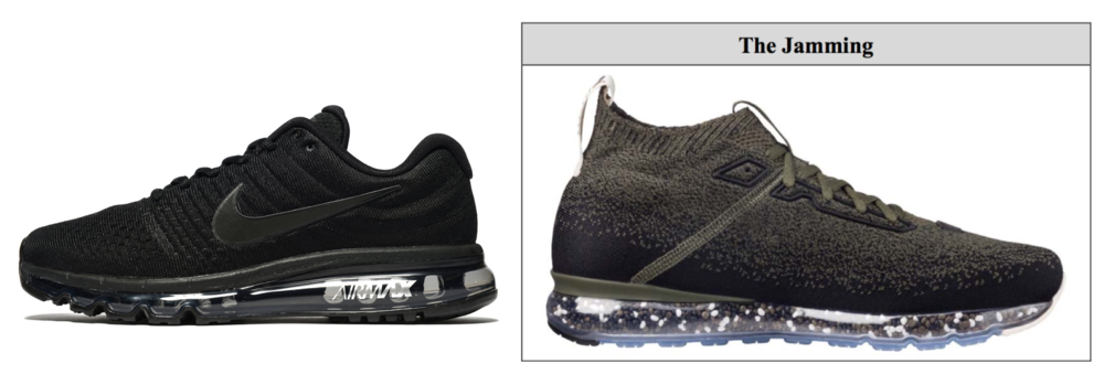 Nike Air sneaker (left) & Puma's air sneaker (right)