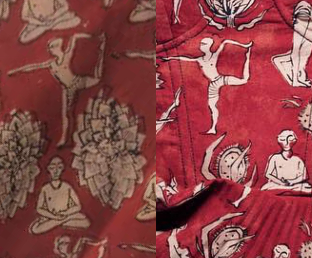 People Tree's print (left) & Dior's print (right)