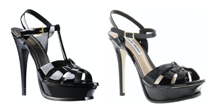 YSL's Tribute shoe (left) & Madden's Kananda (right)