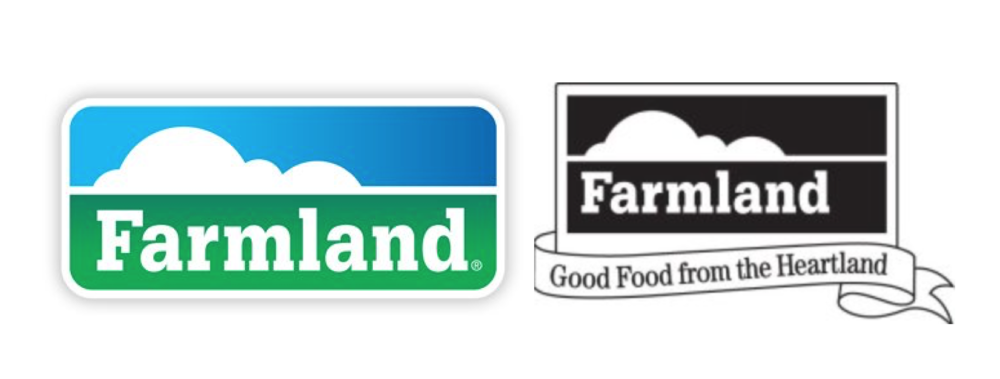 Farmland's logo (left) & The image from Farmland's trademark registration (right)
