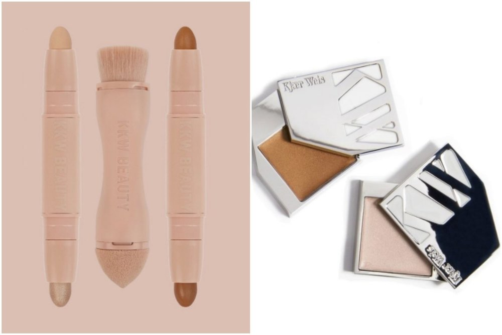 image: KKW products (left) & KW products (right)