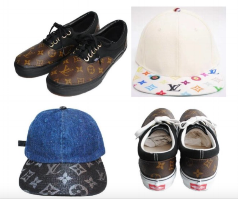 Some of the defendant's customized Louis Vuitton goods