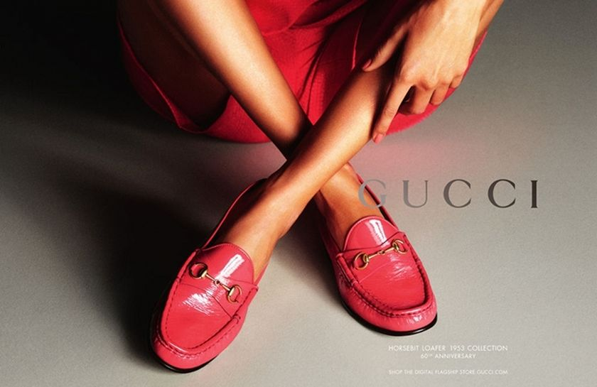 a Gucci footwear ad from 2013