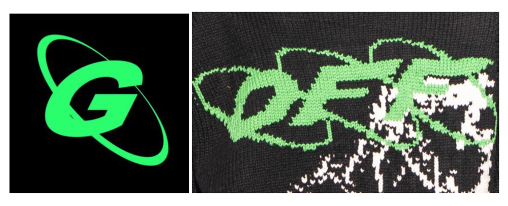 Gramm's logo (left) & Off-White (right)